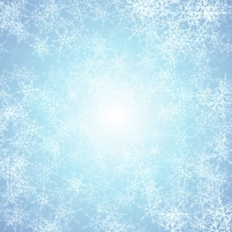 Kerst sneeuwvlok achtergrond met ijs effect