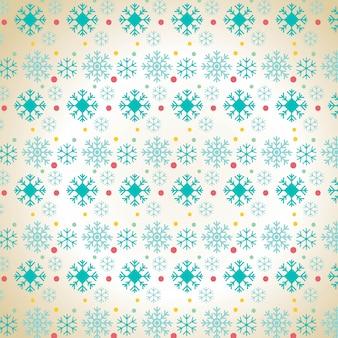 Kerst sneeuwvlok patroon achtergrond