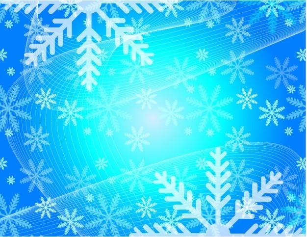 Kerst sneeuwvlokken bloemen vector achtergrond