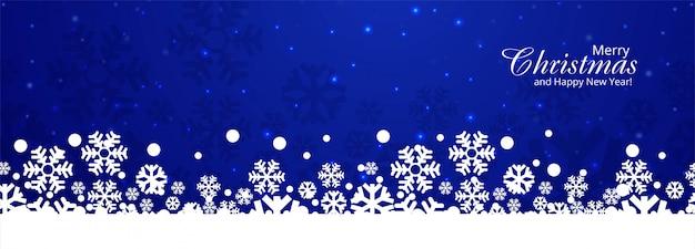 Kerst sneeuwvlokken kaart banner afbeelding