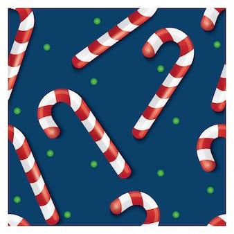 Kerst snoep naadloze patroon