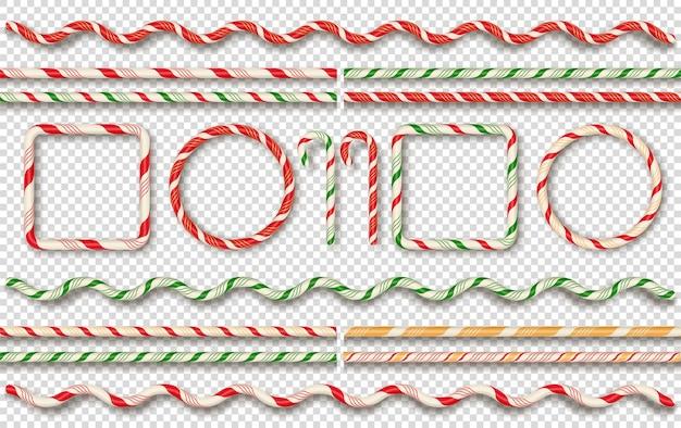 Kerst snoep randen en frames