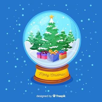 Kerst snowglobe achtergrond