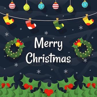 Kerst sociale media achtergrond instagram banner post ontwerp