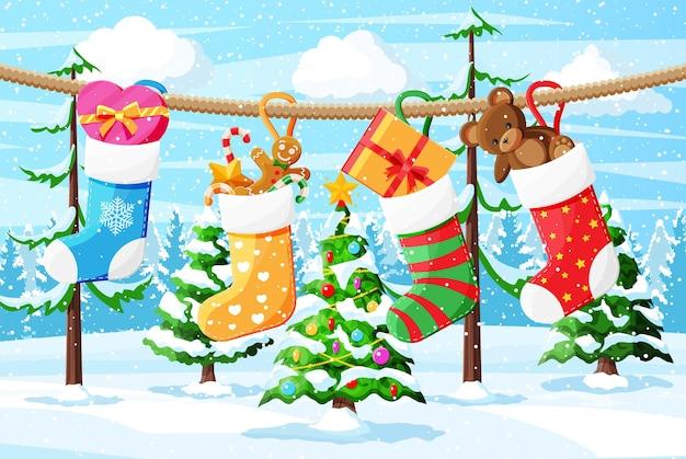 Kerst sokkenkous