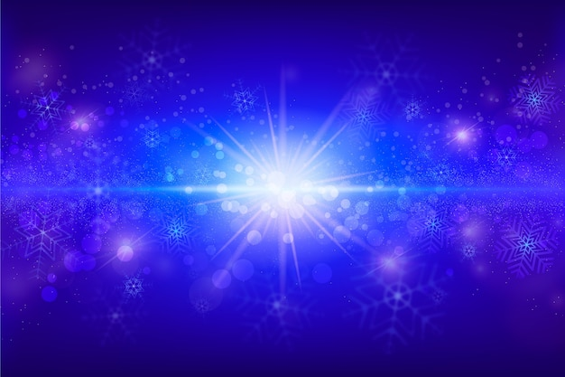 Kerst sprankelende deeltjes behang