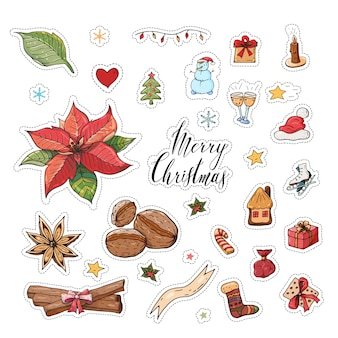 Kerst sticker set
