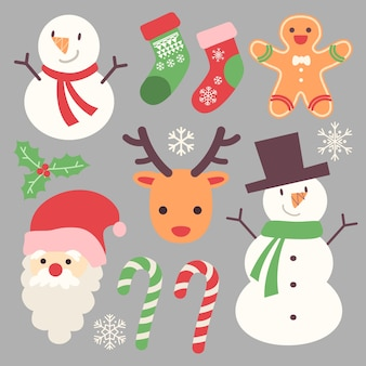 Kerst stickers collectie