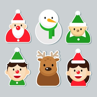Kerst stickers instellen.