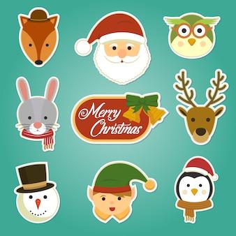 Kerst stickerset