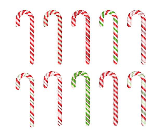 Kerst suikerriet snoep set