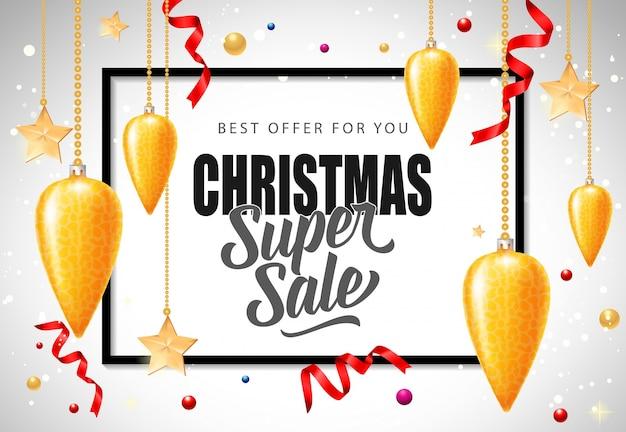 Kerst super verkoop belettering