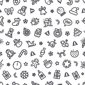 Kerst symbolen naadloze patroon
