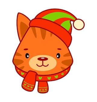 Kerst tekenfilms illustraties. kerst dierlijke clipart vectorillustratie
