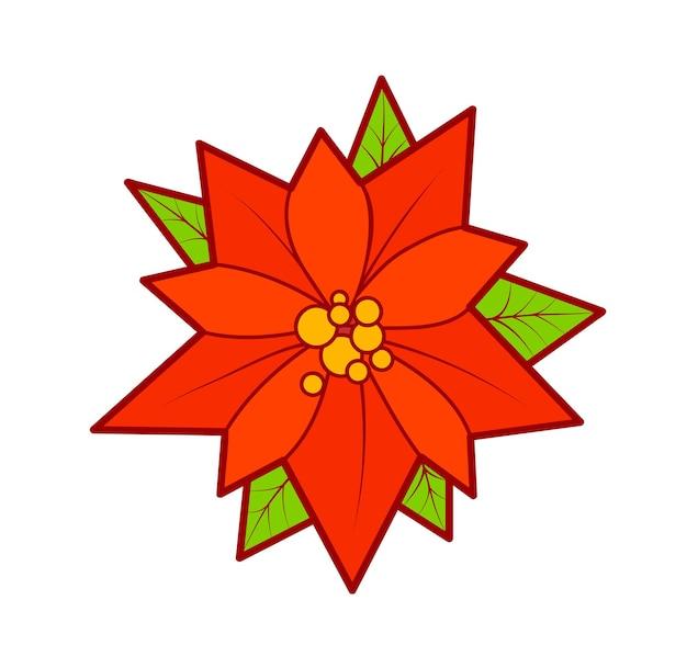 Kerst tekenfilms illustraties. kerstster clipart vectorillustratie.