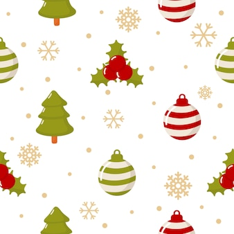 Kerst tekens naadloze patroon op wit