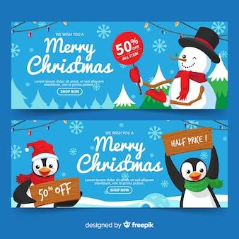 Kerst tekens verkoop banner