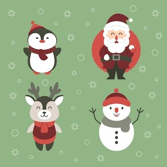 Kerst tekenset illustratie