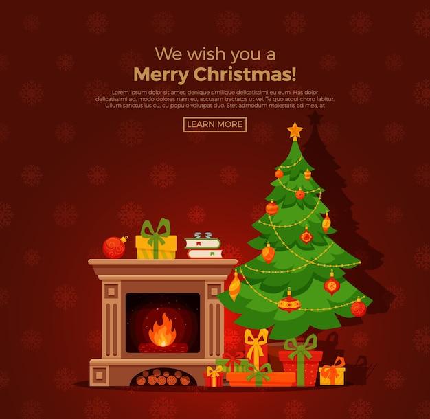Kerst thema illustratie