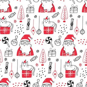 Kerst thema naadloos patroon