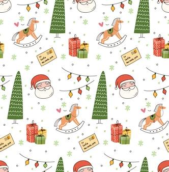Kerst thema naadloze achtergrond