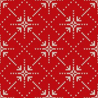 Kerst trui ontwerp. naadloos gebreide patroon met sterren