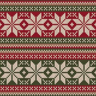 Kerst trui ontwerp naadloze breipatroon