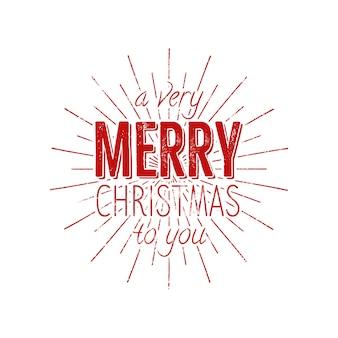 Kerst typografie label