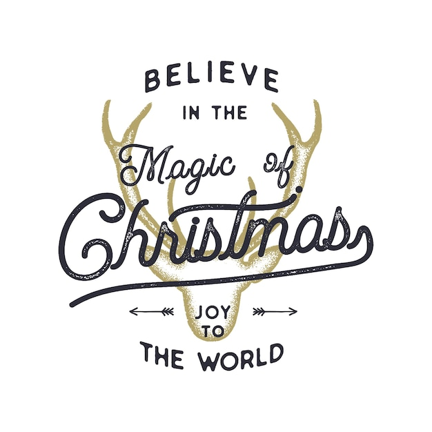 Kerst typografie offerte illustratie