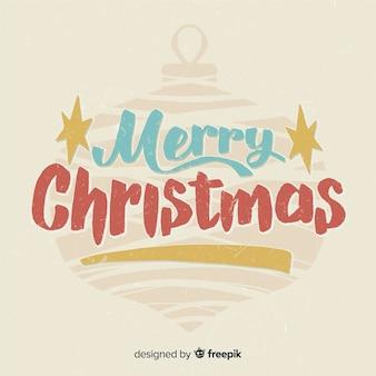 Kerst typografische bal achtergrond