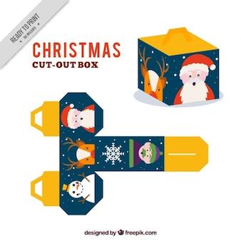 Kerst uitgesneden doos