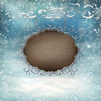 Kerst uithangbord sjabloon.