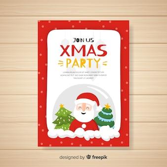 Kerst uitnodigingskaartsjabloon