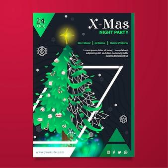 Kerst uitnodigingsmalplaatje