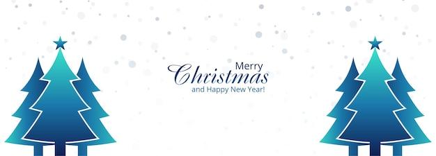 Kerst vakantie boom banner achtergrond