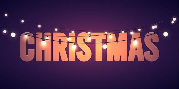 Kerst vakantie lichten achtergrond.