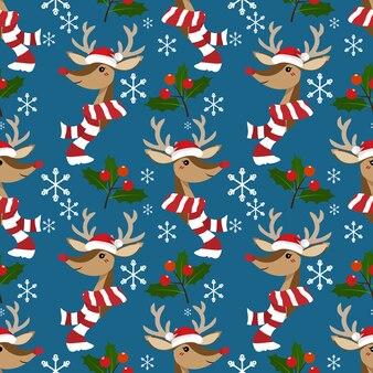 Kerst vakantie seizoen naadloze patroon.