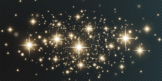 Kerst vallende gouden lichten magische abstracte goudstof en schittering feestelijke kerstachtergrond
