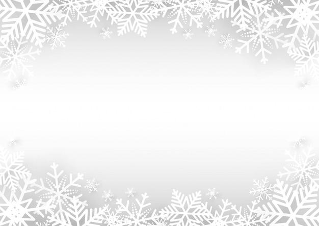 Kerst vector achtergrond met sneeuwvlok