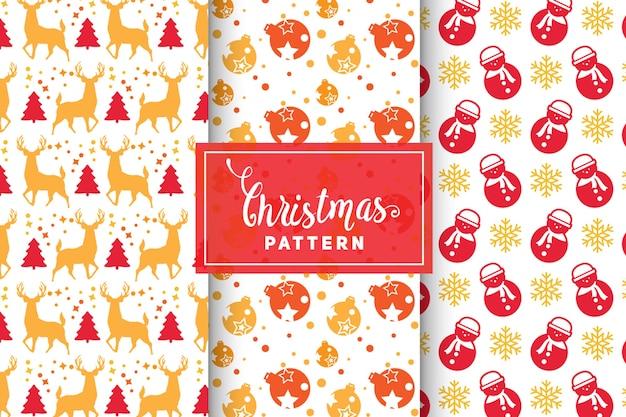 Kerst vector patronen. eenvoudige, minimalistische ontwerpen. eps 10, vectorobjecten.