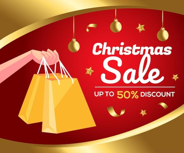 Kerst verkoop aanbieding promotie achtergrond