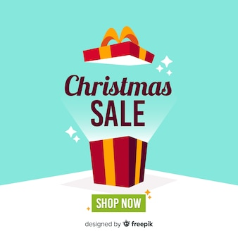 Kerst verkoop achtergrond