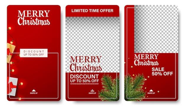 Kerst verkoop achtergrondverhalen collectie.