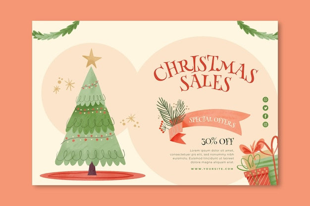 Kerst verkoop banner concept