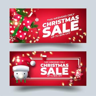 Kerst verkoop banner, omslagontwerp