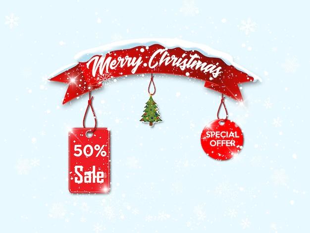 Kerst verkoop banner.