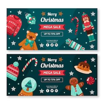 Kerst verkoop banners ontwerpen