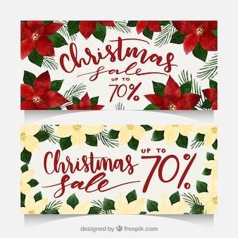 Kerst verkoop banners