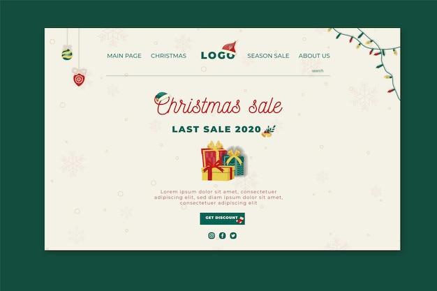 Kerst verkoop bestemmingspagina
