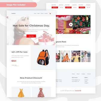 Kerst verkoop e-mailsjabloon